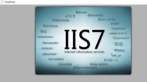 IIS7 Main screen